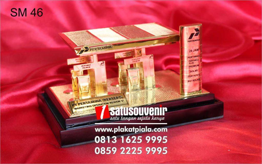 souvenir miniatur pertamina spbu