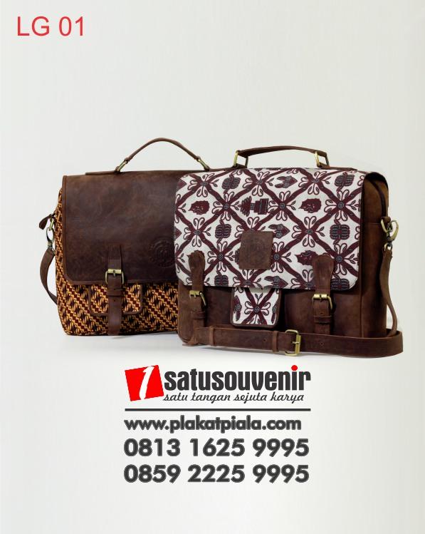 Tas Laptop Kulit Batik