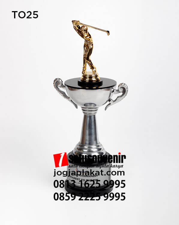 Contoh Piala Olahraga Gold APCNGI - piala golf