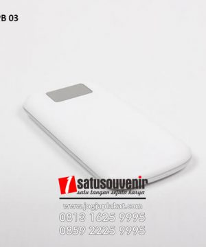 PB 03 Power Bank Plastik Custom