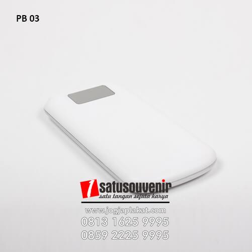 PB 03 Power Bank Plastik Custom