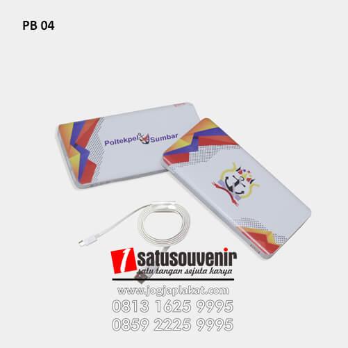 PB 04 Power Bank Cetak Print Poltekpel Sumbar