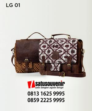 LG01 Tas Laptop Kulit Batik - produk kulit