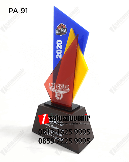 PA91 Plakat Akrilik PT KPP BDMA Best Mechanic 2020