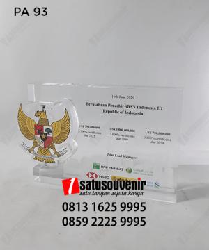 PA93 Plakat Akrilik Perusahaan Penerbit SBSN Indonesia