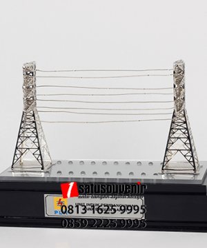 SM91 Souvenir Miniatur Tower PLN Jawa Barat
