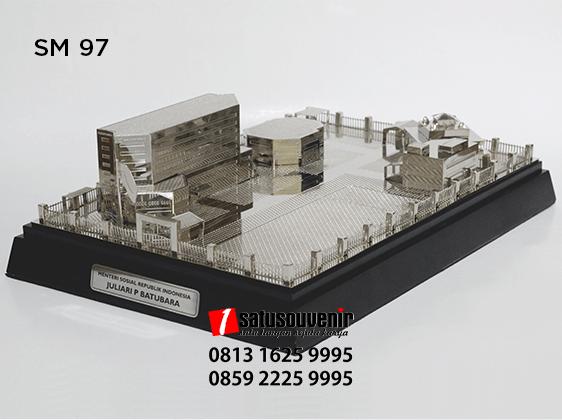 SM97 Souvenir Miniatur Gedung Kementerian Sosial RI