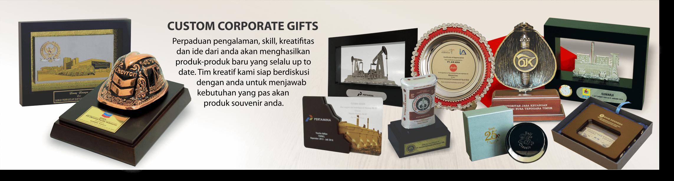 Plakat penghargaan custom corporate Gift - contoh cinderamata
