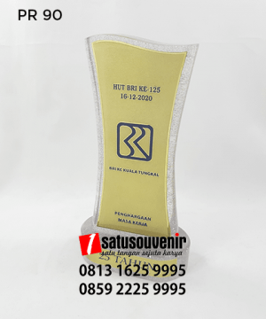 PR90 Plakat Resin Hut BRI ke 125 BRI KC Kuala Tunggal