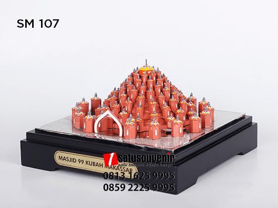 SM107 Souvenir Miniatur Masjid 99 Kubah Makassar