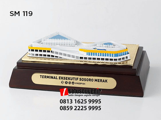 SM119 Souvenir Miniatur Terminal Eksekutif Sosoro Merak