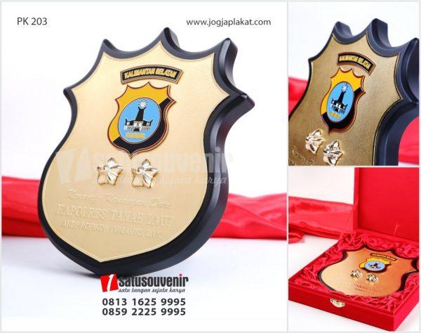 PK 203 Plakat Kayu Kuningan Kapolres Tanah Laut KALSEL